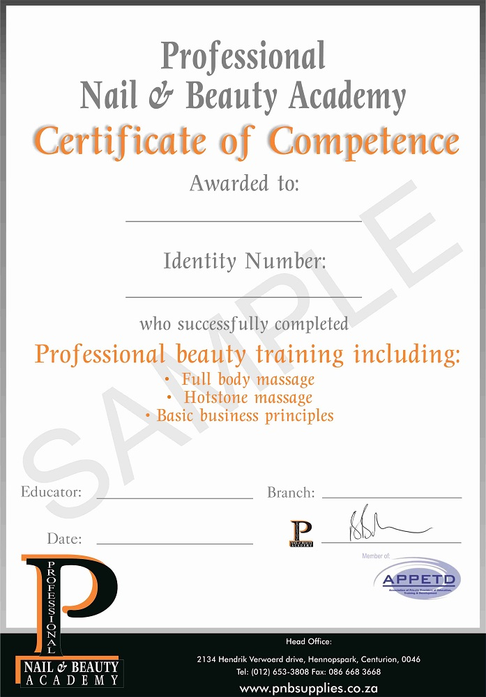 Certificate Sample  Professional Nail And Beauty Online Wholesalers
